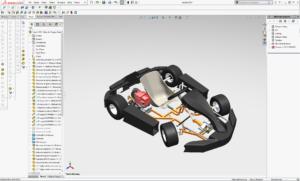 Budowa maszyn - projekt ramy kartingowej mini