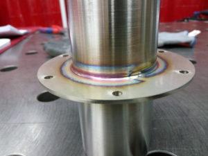 Wyroby ze stali nierdzewnej - spawanie na obrotniku