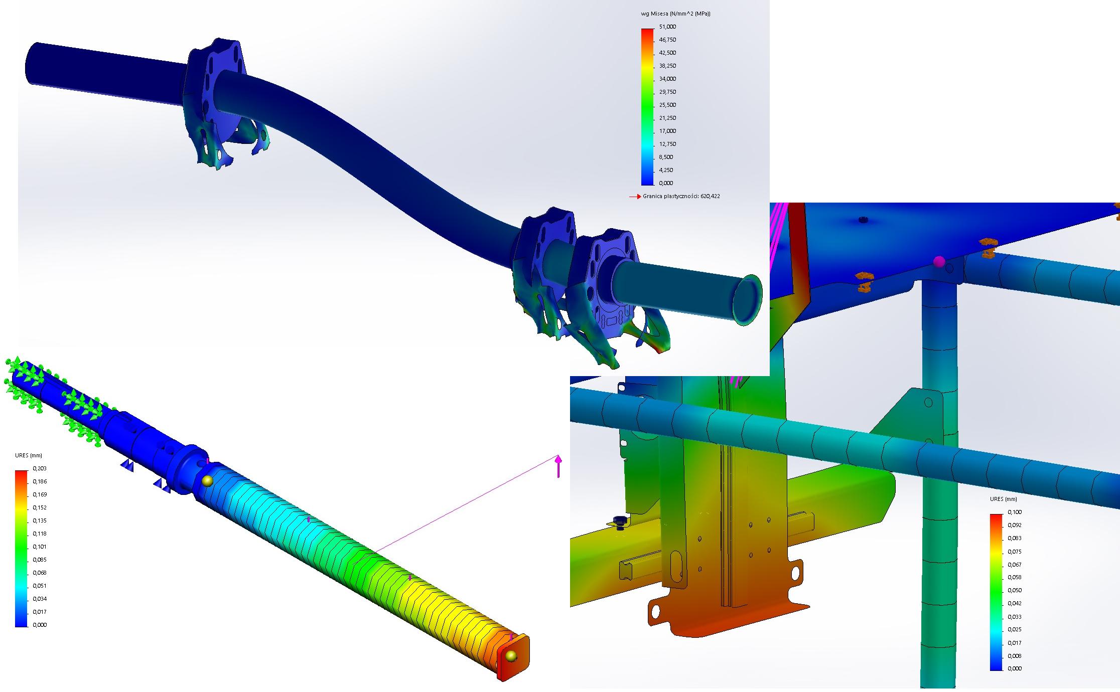 Budowa maszyn - analizy metodą MES