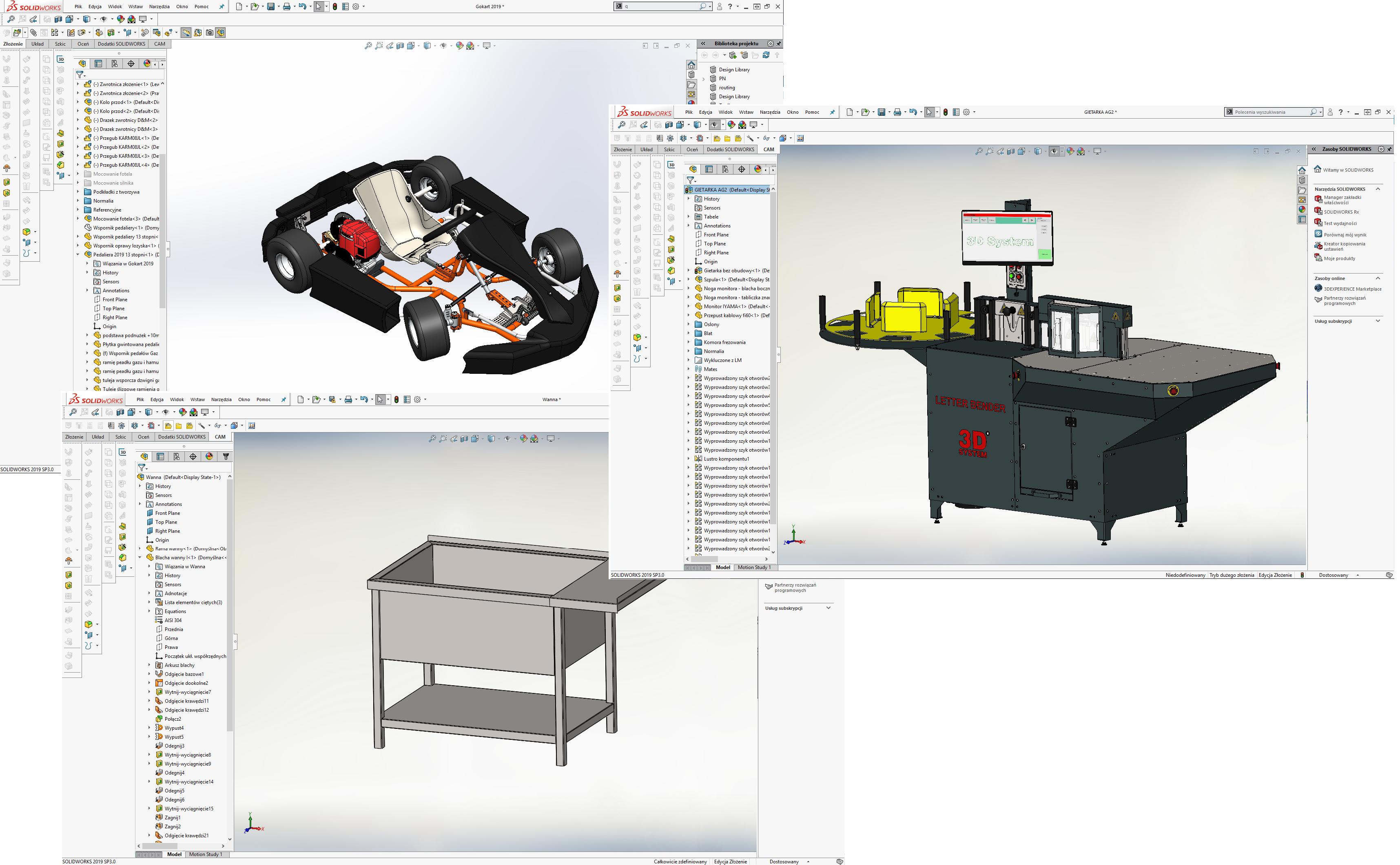 Projekty CAD-CAE - projekty maszyn i urzadzeń