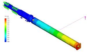 Budowa maszyn - analiza wytrzymałościowa rury